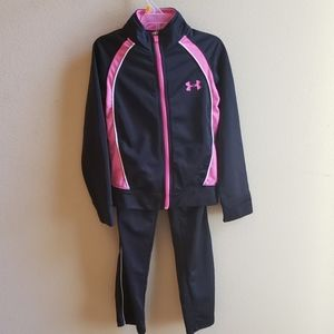 Girls Under Armour UA track suit